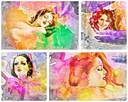 Happiness Digital Art Prints - Womans Soul Print by Mo T