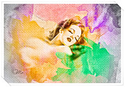 Happiness Digital Art Prints - Womans Soul Part 1 Print by Mo T