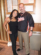 Actor Photos - Womans World Champion Wrestler Gail Kim and myself by Jim Fitzpatrick