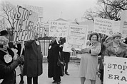 Opposition Photo Framed Prints - Women Demonstrating Against The Federal Framed Print by Everett