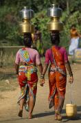 Jugs Metal Prints - Women From Khilabandar Balance Metal Print by James L. Stanfield