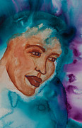 Scarves Painting Originals - Women in Scarves Survivor  by Ilisa  Millermoon