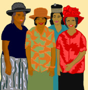 African American Art Drawings Posters - Women of the Church Poster by Pharris Art