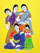 Soul-sisters Painting Posters - Women Power Poster by Vamsi Maganti