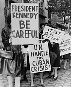 Cuban Missile Crisis Posters - Women Strike For Peace. Some Of The 800 Poster by Everett