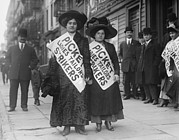 New York Signs Photo Framed Prints - Women Strike Pickets From Ladies Framed Print by Everett