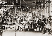 Factory Workers Framed Prints - Women Working In Welding Department Framed Print by Everett