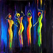 Celebrations Paintings - Womens Day Celebration In South Africa by Marietjie Henning