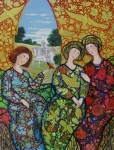 Tapestries Framed Prints - Womens Dream Framed Print by Marilene Sawaf