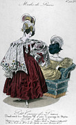 Cushion Metal Prints - Womens Fashion, 1832 Metal Print by Granger