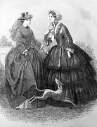 Hoop Prints - Womens Fashion, 1850 Print by Granger
