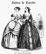 Ball Gown Framed Prints - Womens Fashion, 1851 Framed Print by Granger