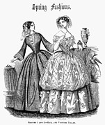 Ball Gown Metal Prints - Womens Fashion, 1853 Metal Print by Granger