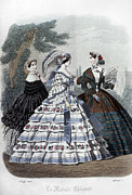 Decolletage Posters - Womens Fashion, 1860 Poster by Granger