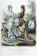 Demoiselles Framed Prints - Womens Fashion, 1877 Framed Print by Granger