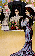 Corset Dress Framed Prints - Womens Fashion, As Depicted In A 1909 Framed Print by Everett