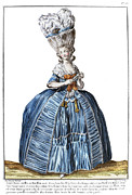 Hoop Prints - WOMENS FASHION, c1780 Print by Granger