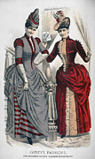 Trimming Posters - WOMENS FASHION, c1875 Poster by Granger