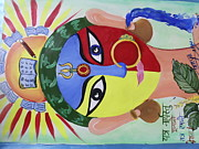 Goddess Durga Painting Posters - Womens Power  Poster by Tanya Sahu
