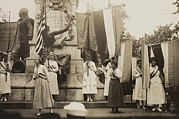 Social Movements Art - Womens Suffrage Activists Protest by Everett