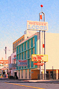 Motel Digital Art Prints - Wonder Lodge Print by Wingsdomain Art and Photography