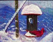 Winter Scene Pastels - Wonder of Winter by Sandy Hemmer