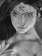 Dc Comics Drawings - Wonder Woman by Brittany Frye