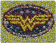 Candy Digital Art Originals - Wonder Woman MM Mosaic by Paul Van Scott