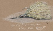 Lure Mixed Media Posters - Wonderful fly Poster by H C Denney