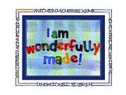 Religious Art Painting Posters - Wonderfully Made Poster by Judy Dodds