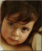 Beautiful Child Prints - Wondering eyes Print by Gun Legler