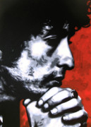 Bob Dylan Paintings - Wondering if shed changed at all if her hair was still red by Luis Ludzska