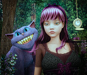 3d Graphic Digital Art - Wonderland Alice by Jutta Maria Pusl