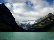 Hotels Posters - Wonderland of Lake Louise Poster by Karen Wiles