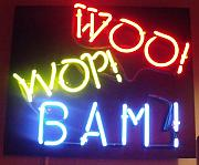 Anna Villarreal Garbis Framed Prints - Woo Wop Bam Framed Print by Anna Villarreal Garbis