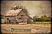 Barn Digital Art Posters - Wood Barn Poster by Betty LaRue