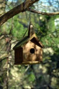 Birdhouse Photos Photos - Wood Birdhouse by Joyce StJames