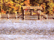 Fall Season Painting Posters - Wood Bridge at Chickasaw Poster by Jai Johnson