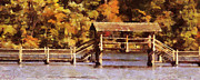 Fall Season Painting Posters - Wood Bridge at Chickasaw Long Version Poster by Jai Johnson