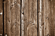 Wood Plank Flooring Prints - Wood Fence Deck Background Print by Brandon Bourdages