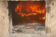 Fire Wood Framed Prints - Wood fired oven Framed Print by Gaspar Avila