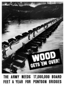 Wwii Prints - Wood Gets Em Over Print by War Is Hell Store