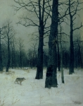 Snow Scenes Metal Prints - Wood in Winter Metal Print by Isaak Ilyic Levitan