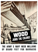 Barracks Posters - Wood Joins The Colors Poster by War Is Hell Store