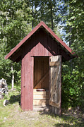 Restroom Posters - Wood Outhouse Poster by Jaak Nilson