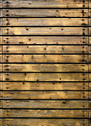 Weathered Wood Framed Prints - Wood Planks Framed Print by Carlos Caetano