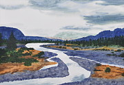 Wyoming Paintings - Wood River Wyoming by JoAnne Rauschkolb