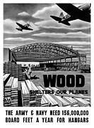 Second World War Prints - Wood Shelters Our Planes Print by War Is Hell Store