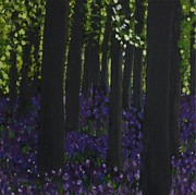 Bluebells Paintings - Woodbells by Lorraine Fenlon