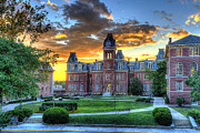 Woodburn Hall In Evening Print by Dan Friend